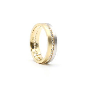İki Renkli Altın Alyans 5 mm. 4 gr.