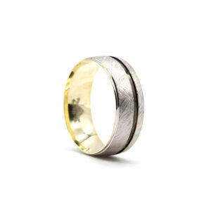 İki Renkli Altın Alyans 7 mm 4,50 gr