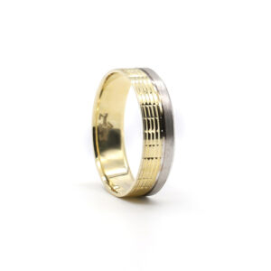 İki Renkli Altın Alyans 6 mm. 4 gr.