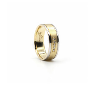 İki Renkli Altın Alyans 6 mm 4,20 gr