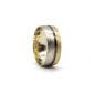 İki Renkli Altın Alyans 8mm 5 gr