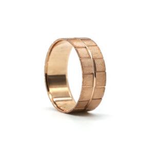 Rose Altın Alyans 8 mm 5 gr