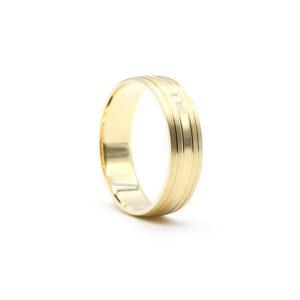 Sarı altın alyans 6 mm. 4 gr